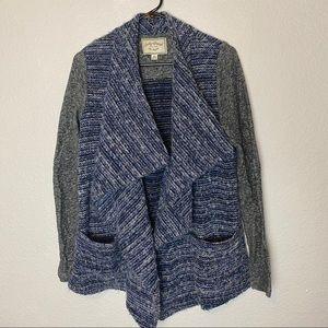 Lucky Brand Blue Drape Open Front Cardigan Sweater